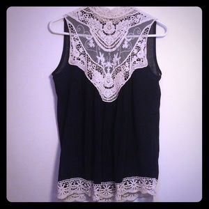 Rue 21 high neck lace tank